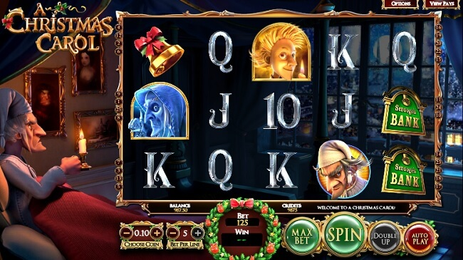 25 free spins on the popular Betsoft game 'Christmas Carol'