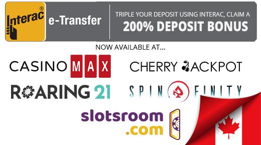 Interac e-Transfer at Casino Max
