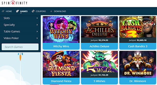 New Welcome Offer Details - Spinfinity Casino