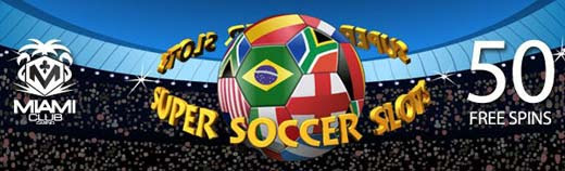 50 Free Spins at Super Soccer Slots